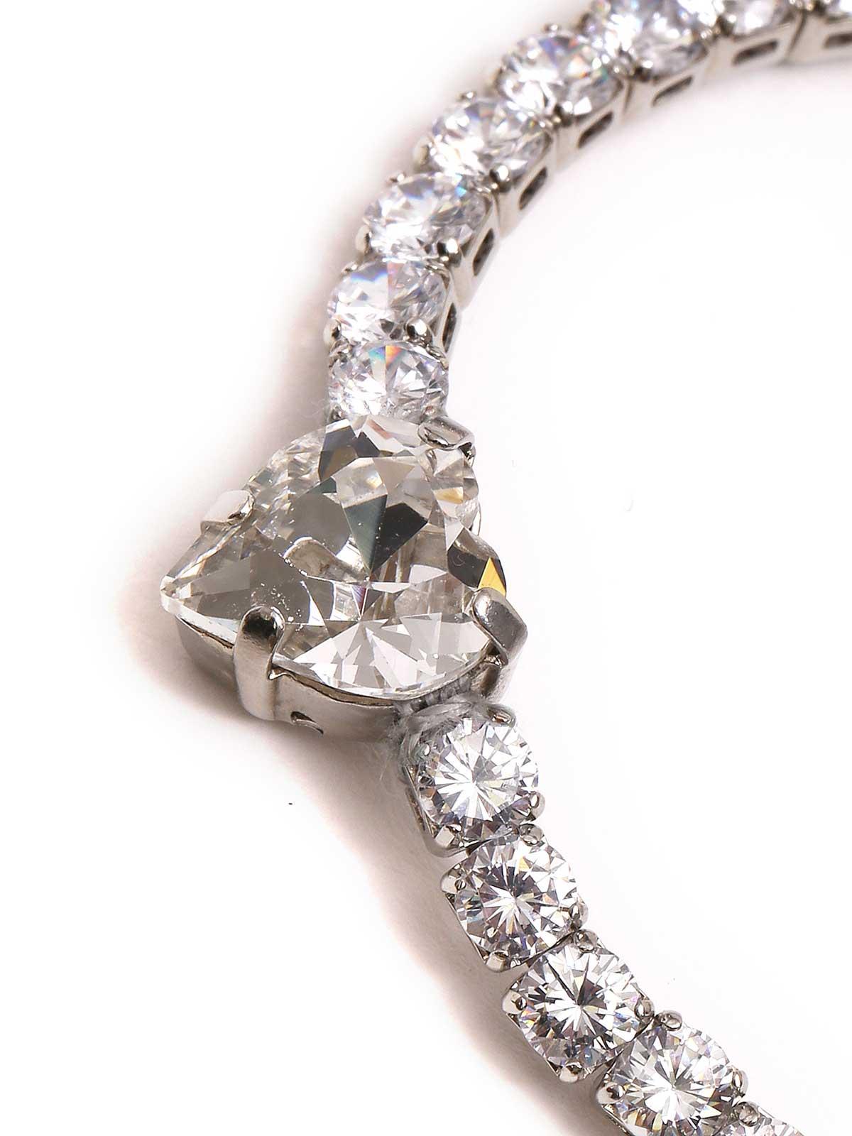 Bracciale con cristalli e cuore lucente