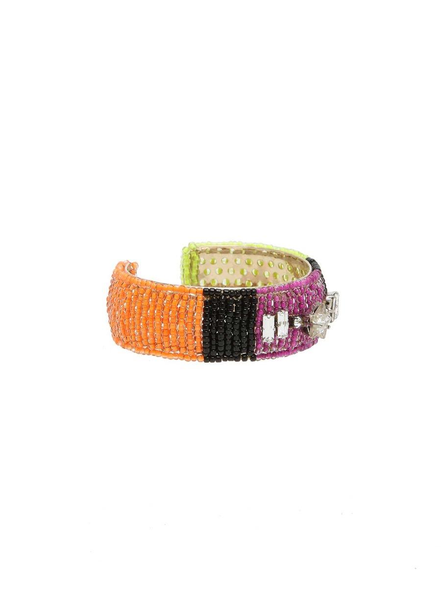 Bracciale di perline multicolor e cristalli
