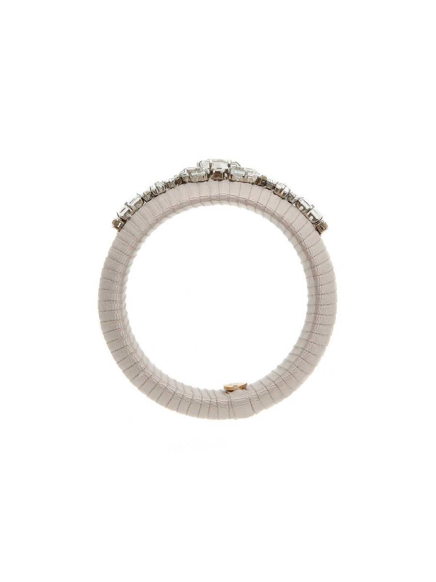 Ribbon bangle with crystals