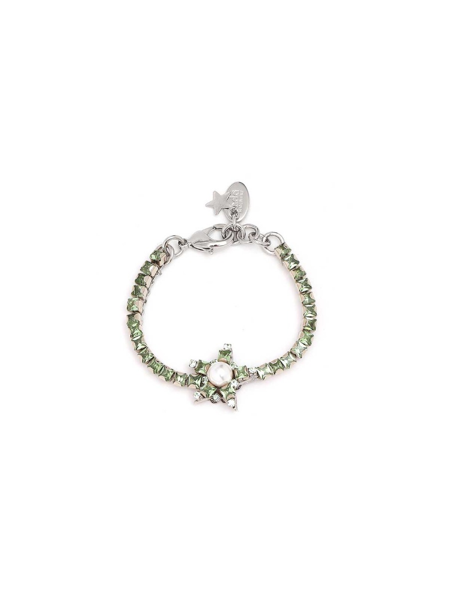Rhinestone bracelet with central star