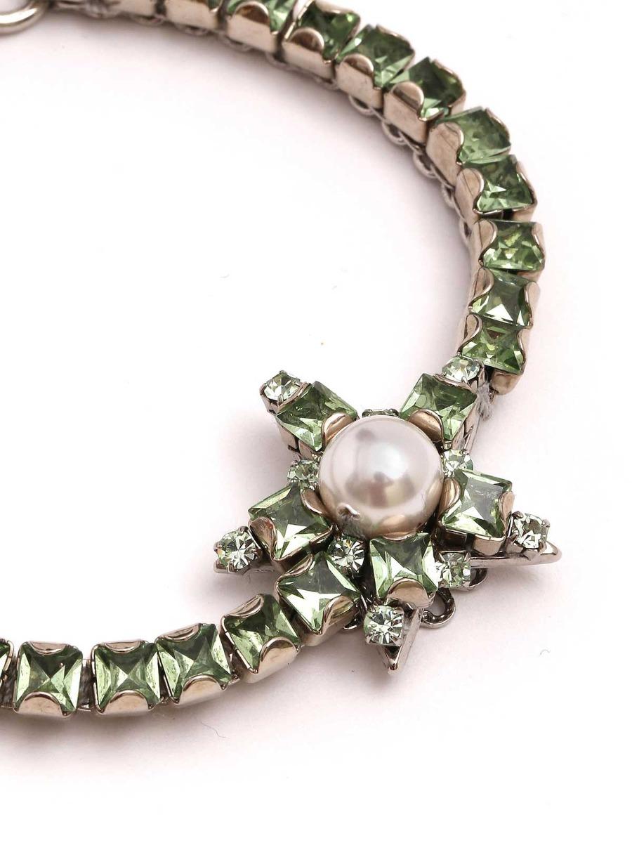 Rhinestone bracelet with central star