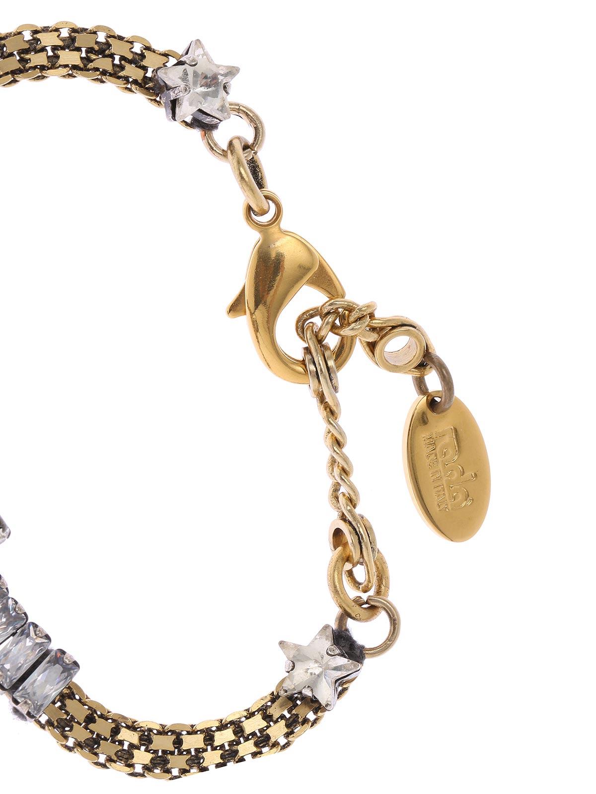 Bracciale a catena con ariete e cristalli