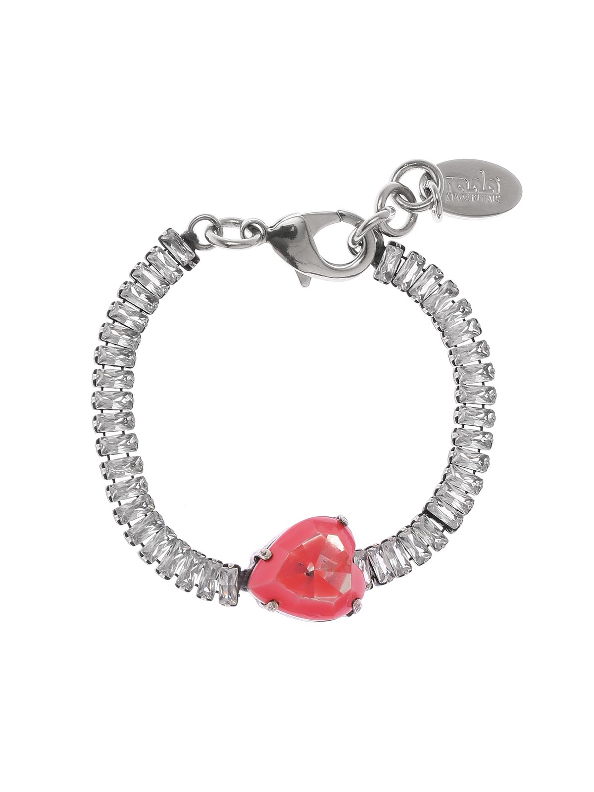 Painted heart bracelet