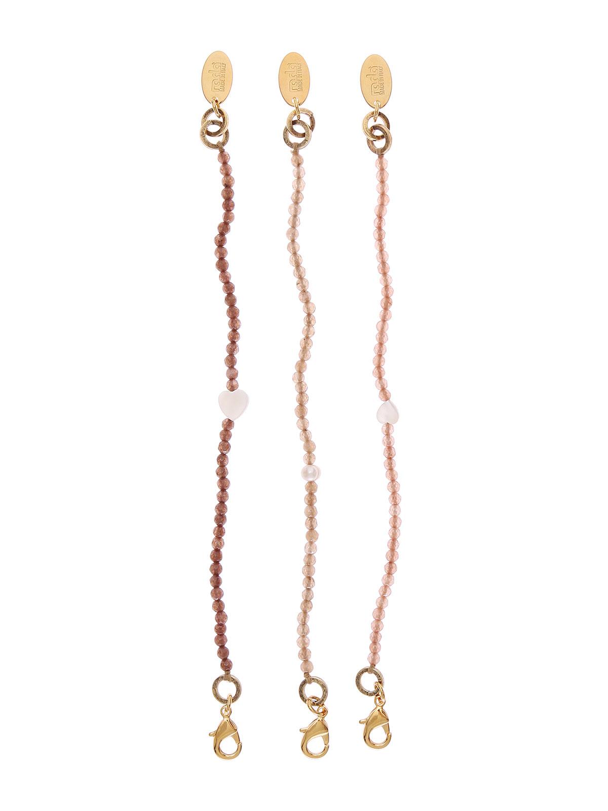 Set di 3 bracciali di perline di giada