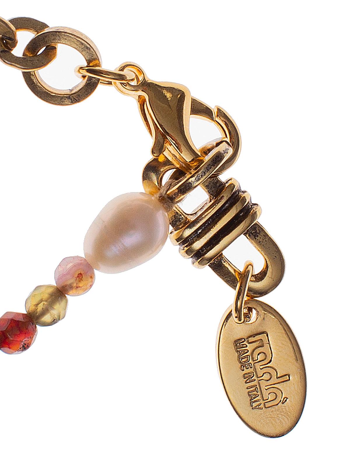 Bracciale catena e perline di giada