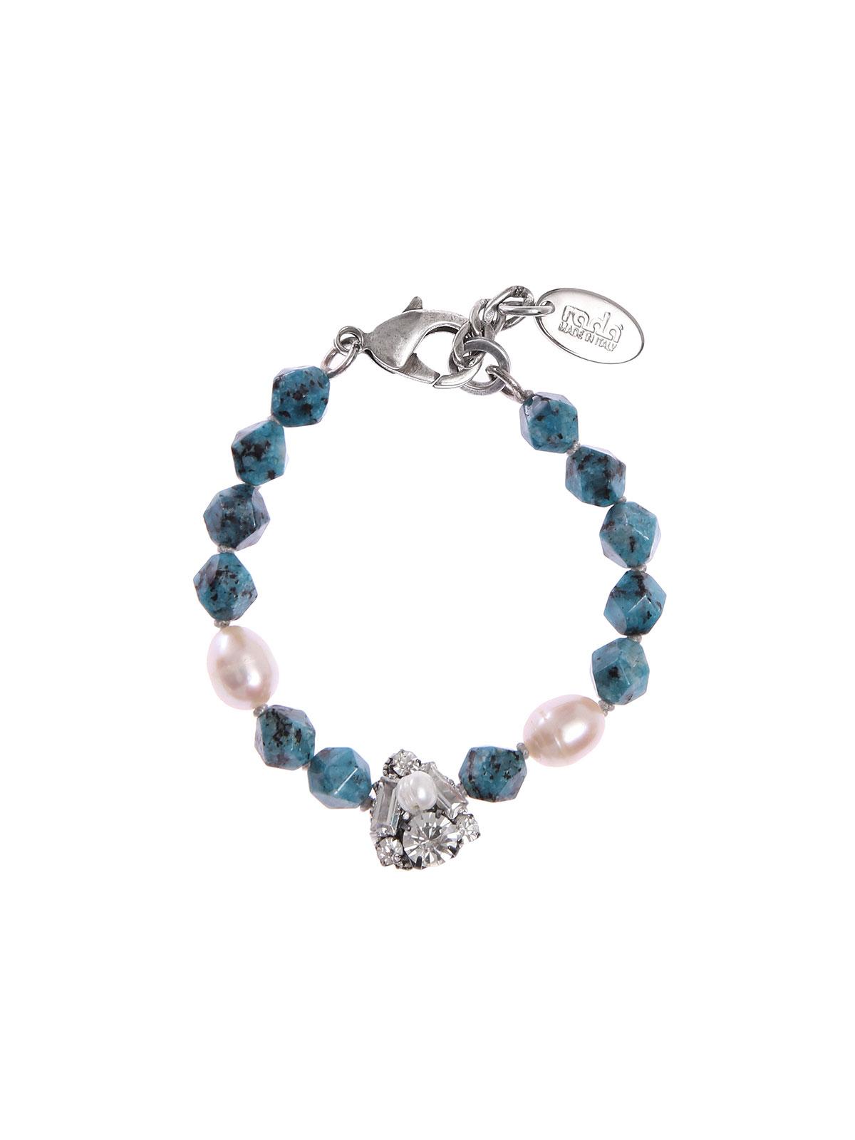 Bracciale perle di Labradorite colorata