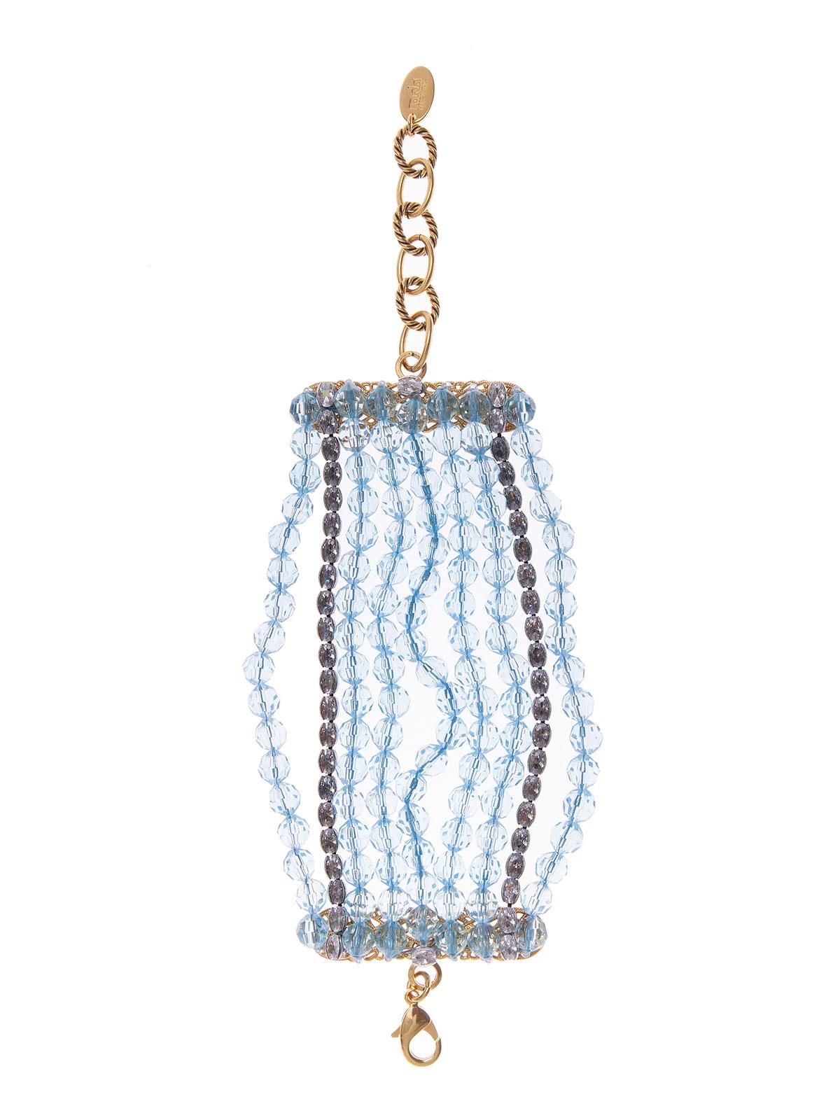 Bracciale con fili di perle plexiglass