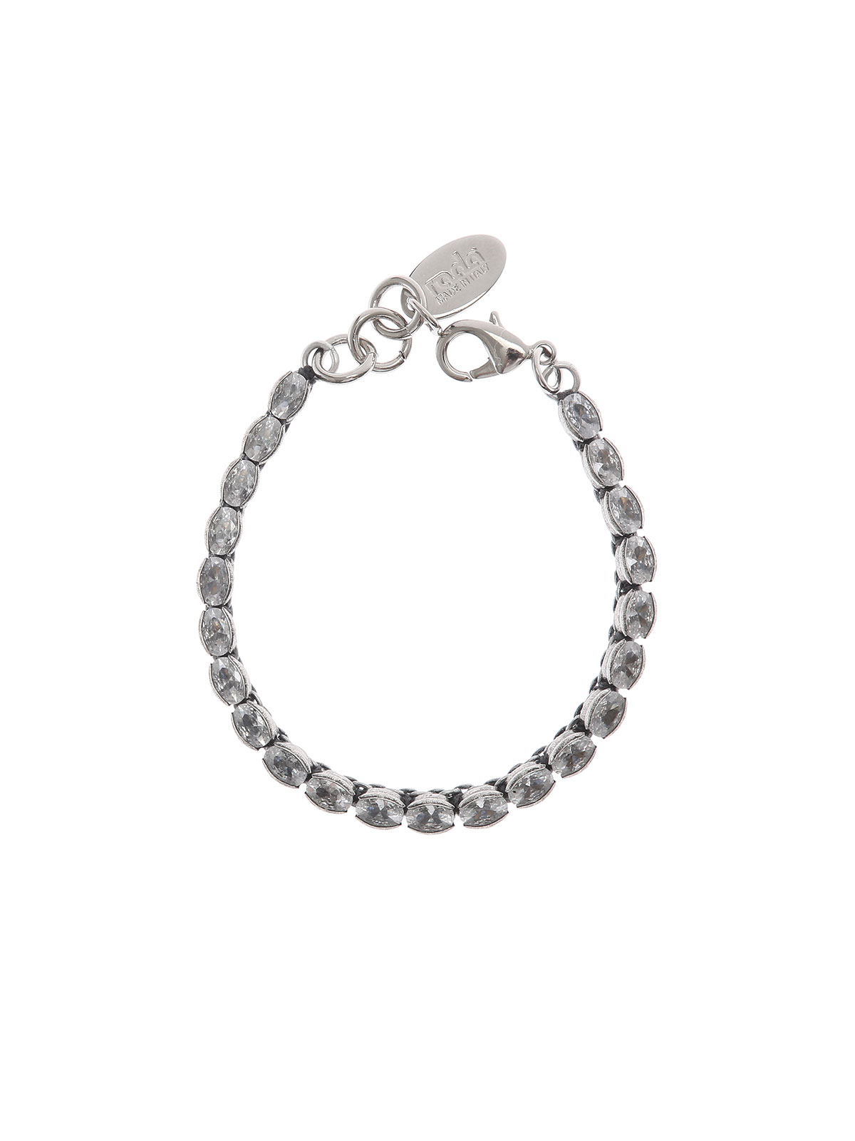 Bracelet with oval crystal stones
