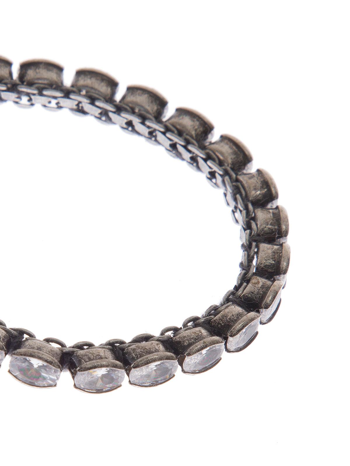 Bracciale con pietre ovali colore cristallo