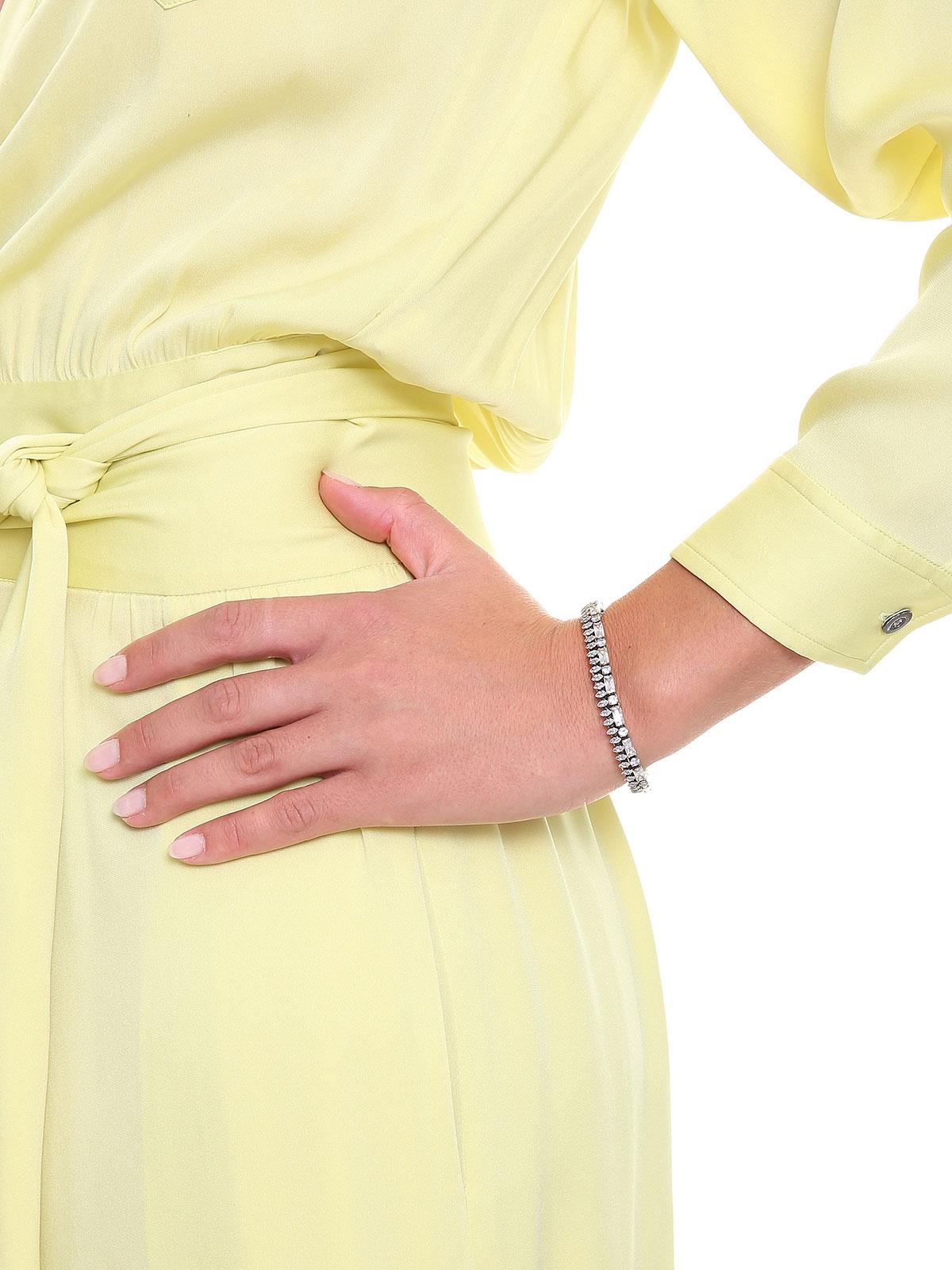 Double row mixed crystal bracelet