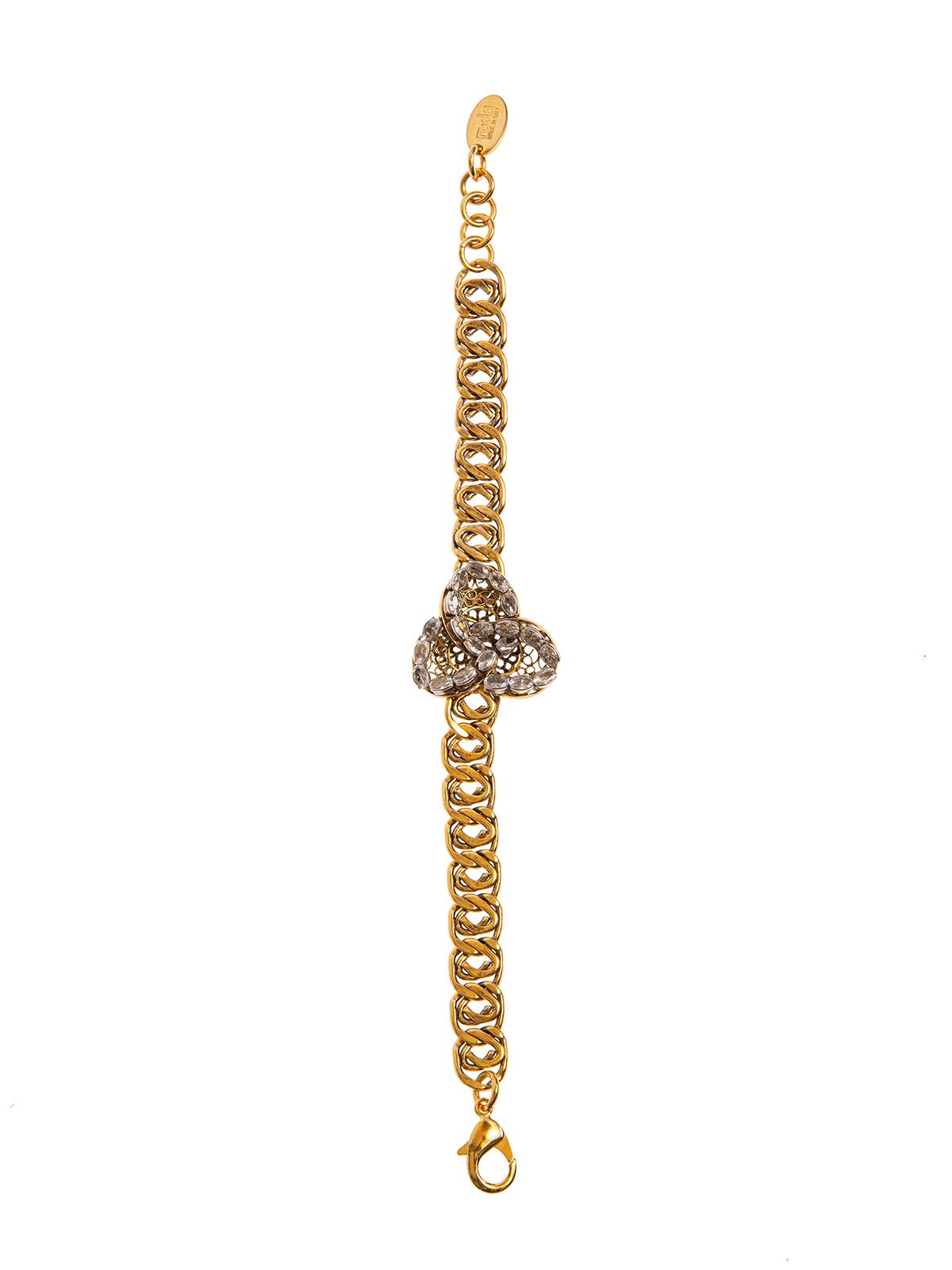 Chain bracelet with crystal petals