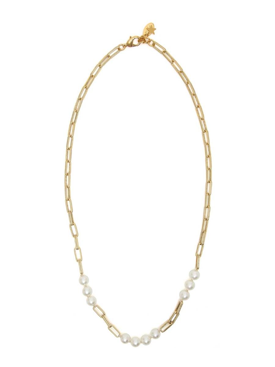 Collana perle e catena