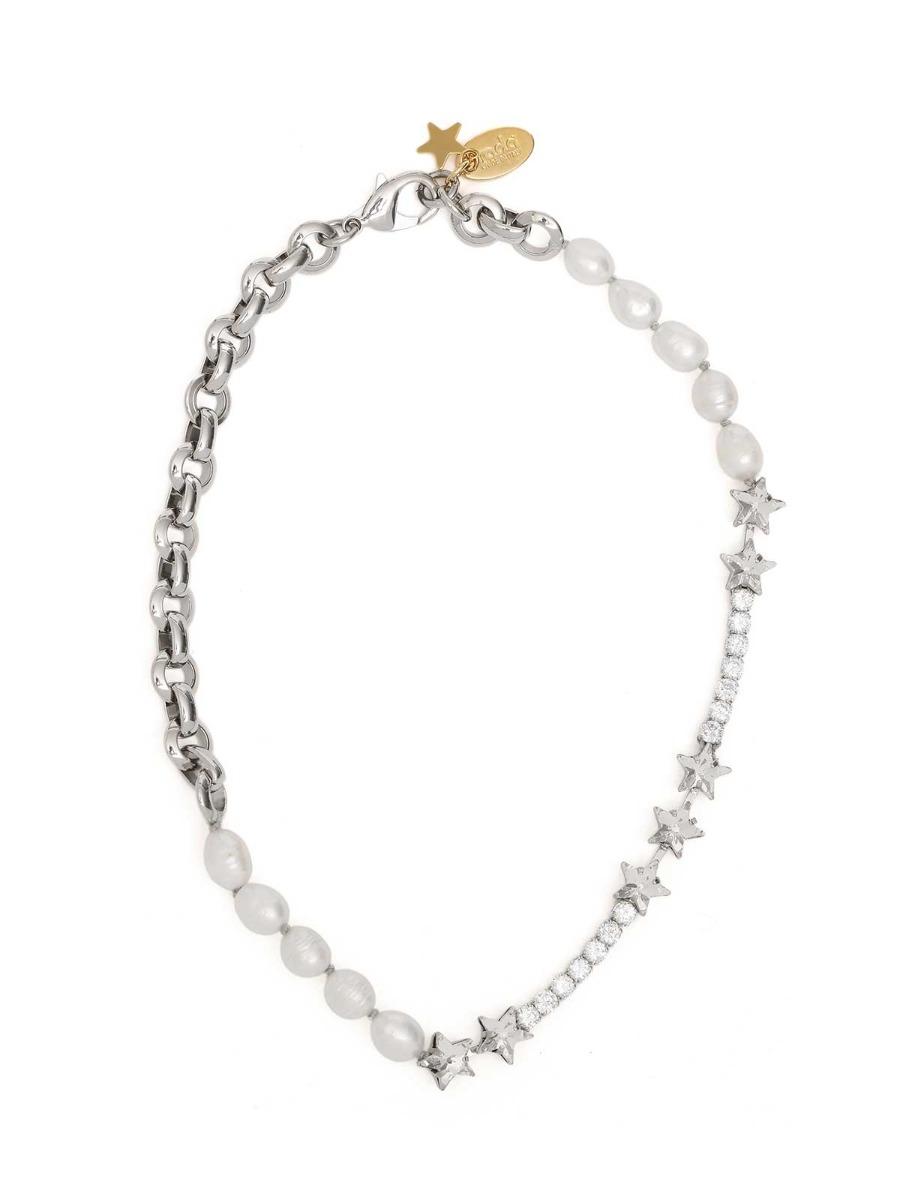Collana con cristalli e perle d'acqua dolce