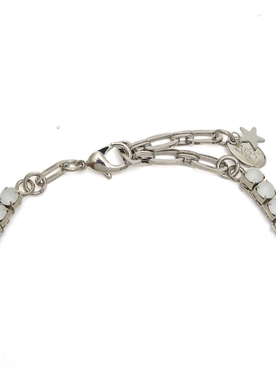 Girocollo di strass e anello in plexi