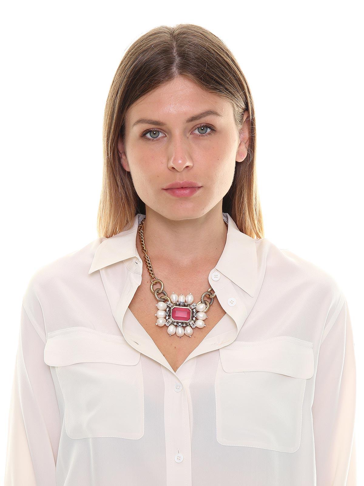 Collana mix di catene con pendente gioiello