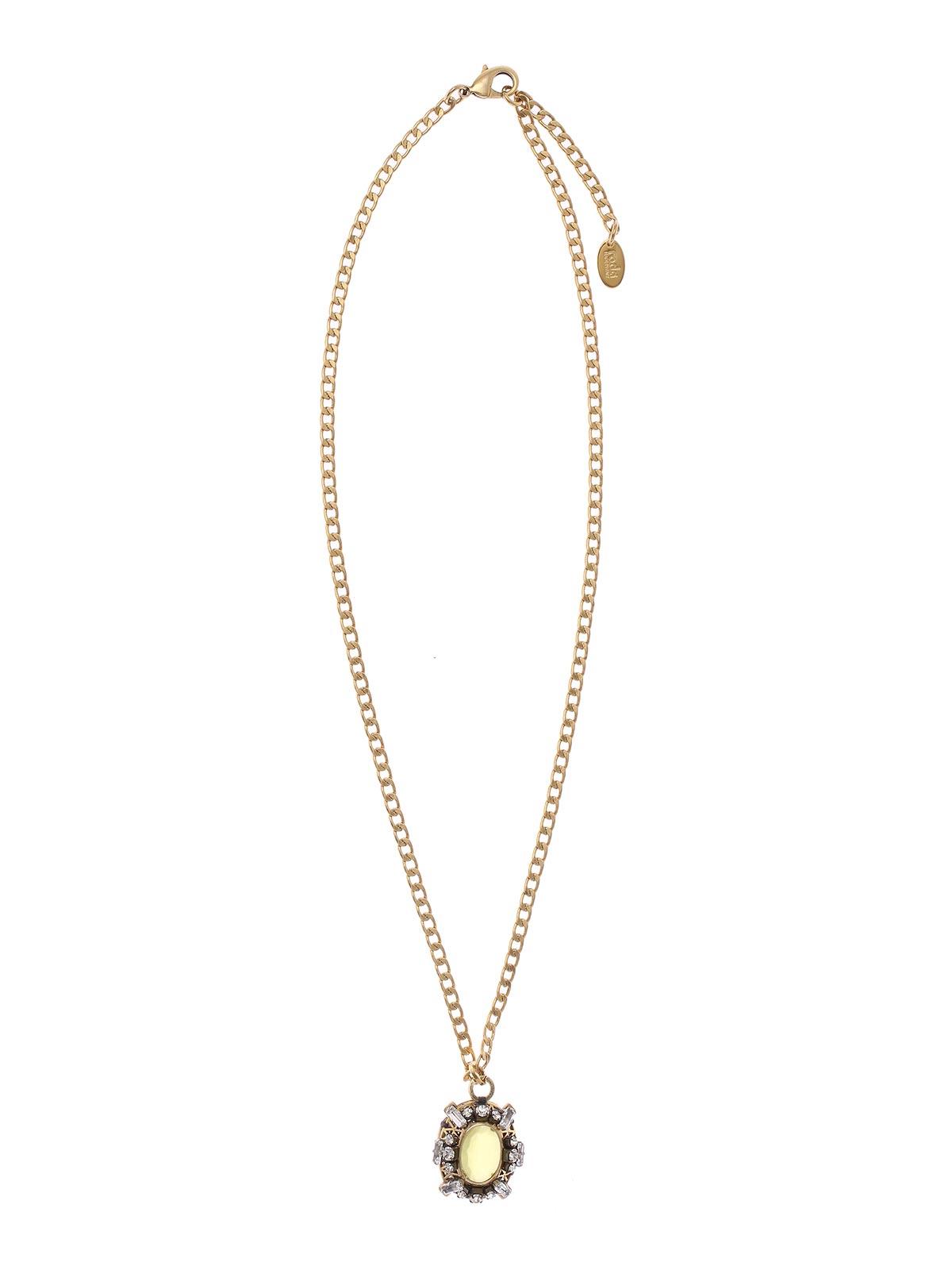 Collana lunga a catena con pendente gioiello