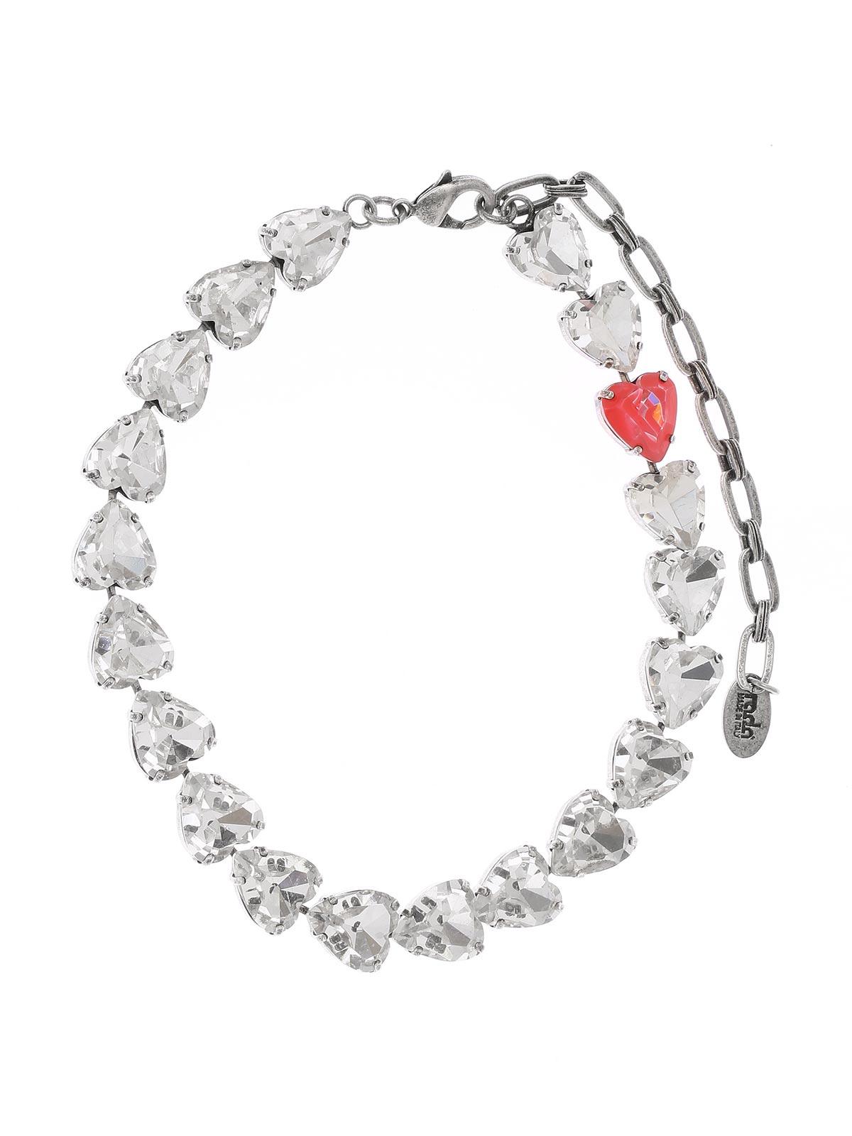 Shiny hearts necklace