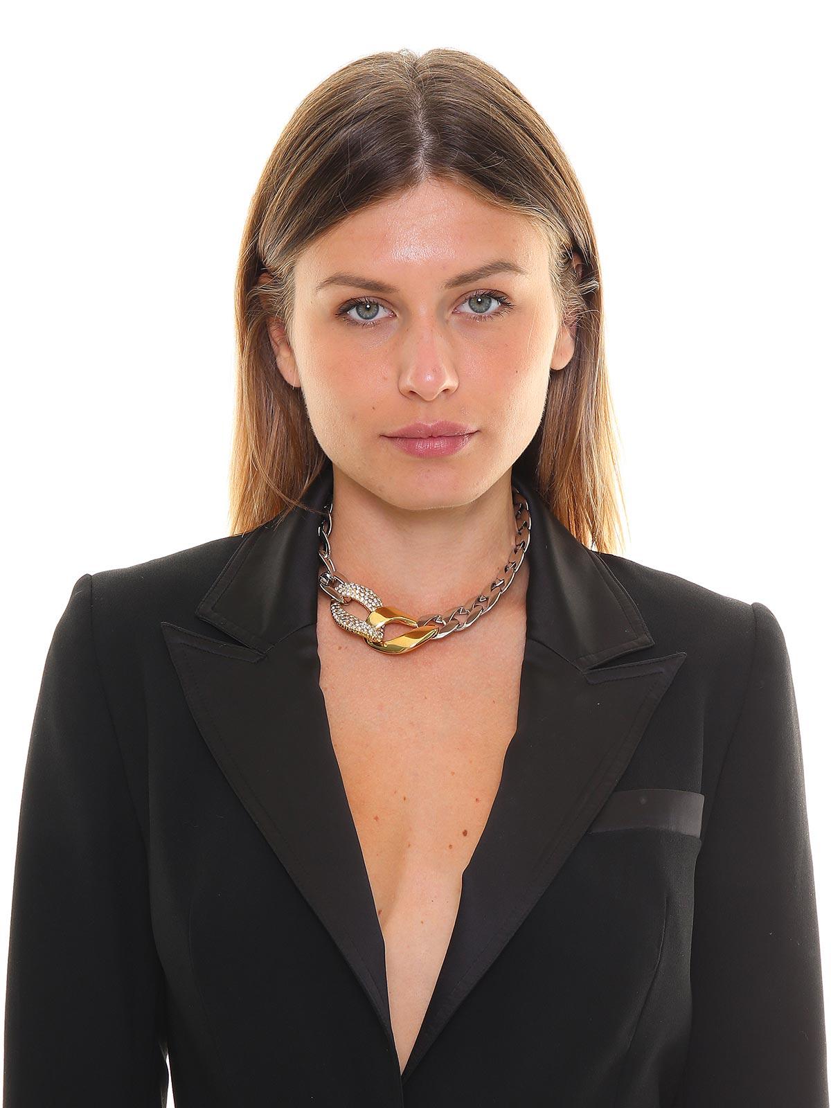Collana in ottone colore con catena gioiello