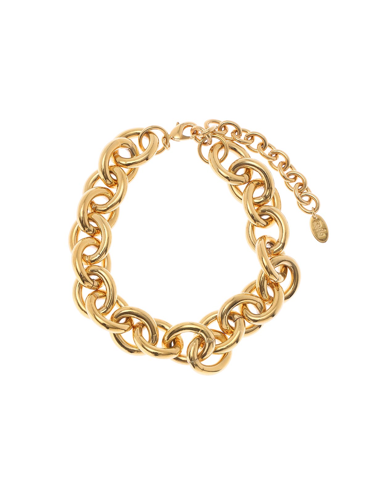 Brass chain necklace-Gold antique
