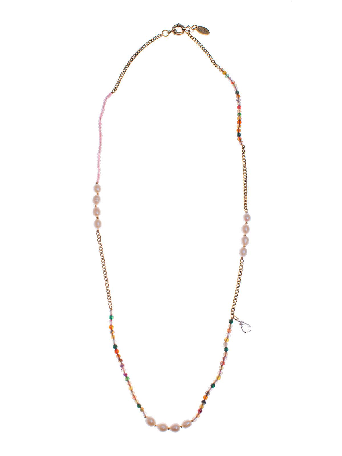 Collana perline giada e perle di fiume