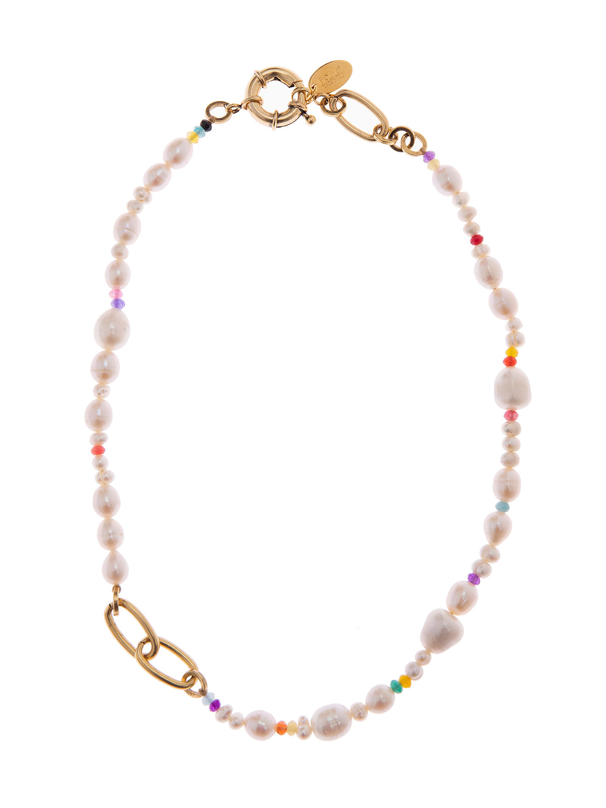 Freshwater pearl and jade necklace
