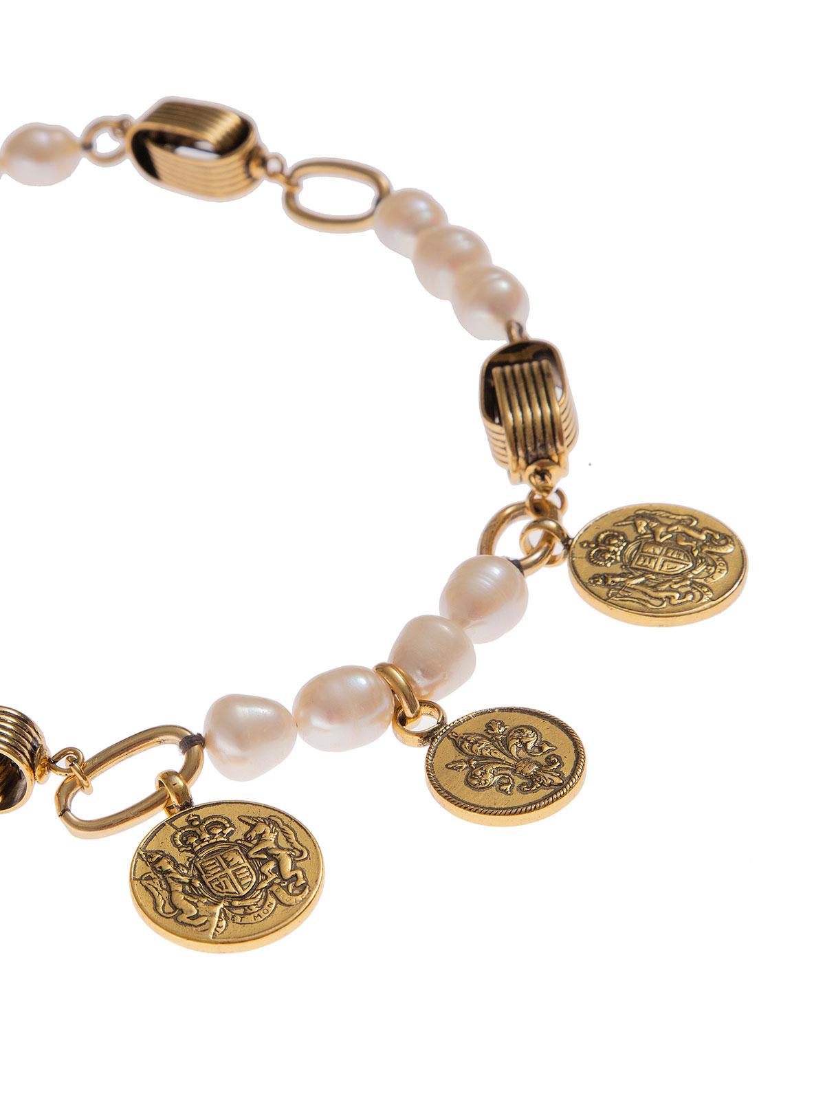 Collana con monete e perle