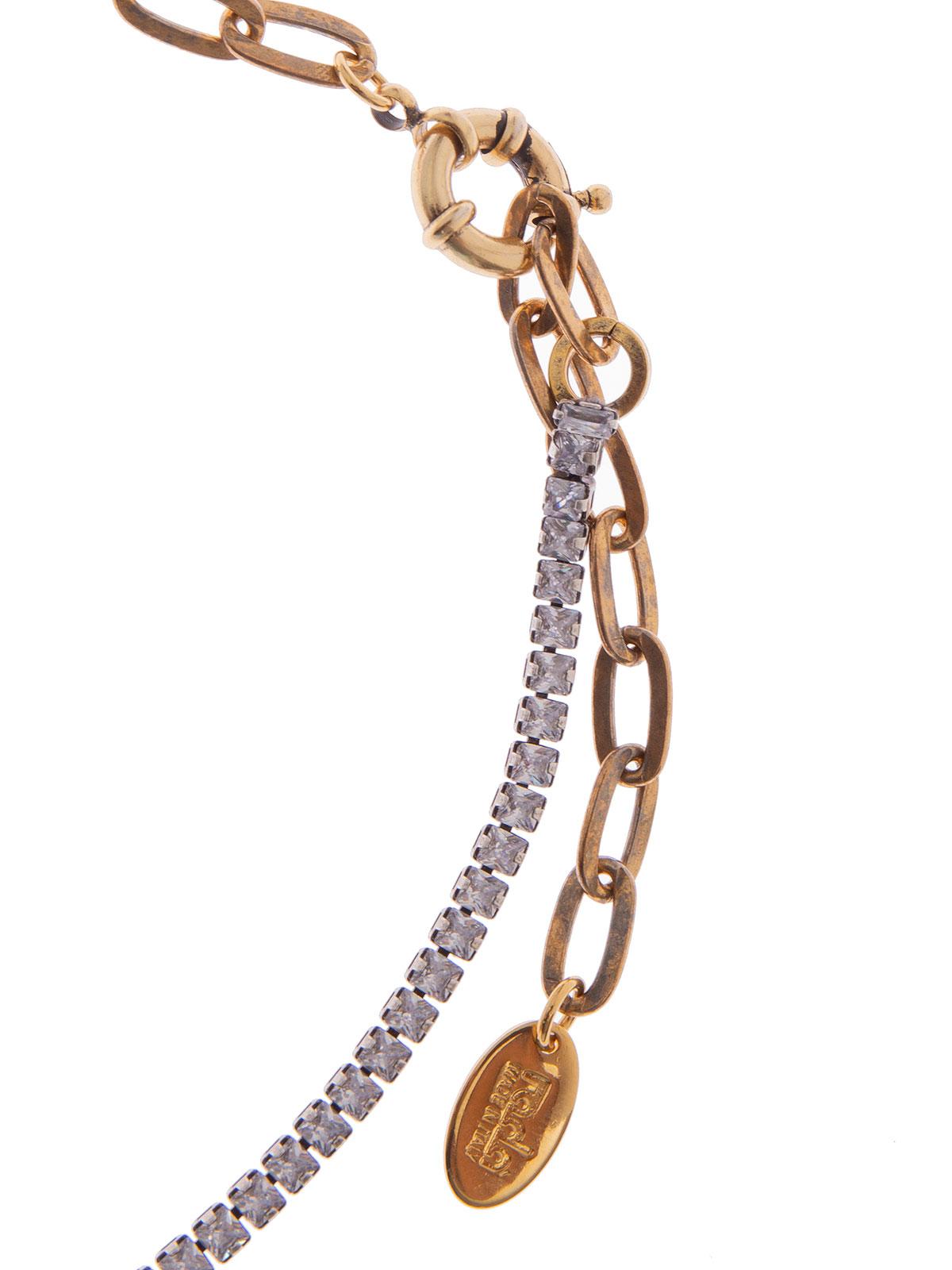 Collana di pietre cristallo con fiocco centrale