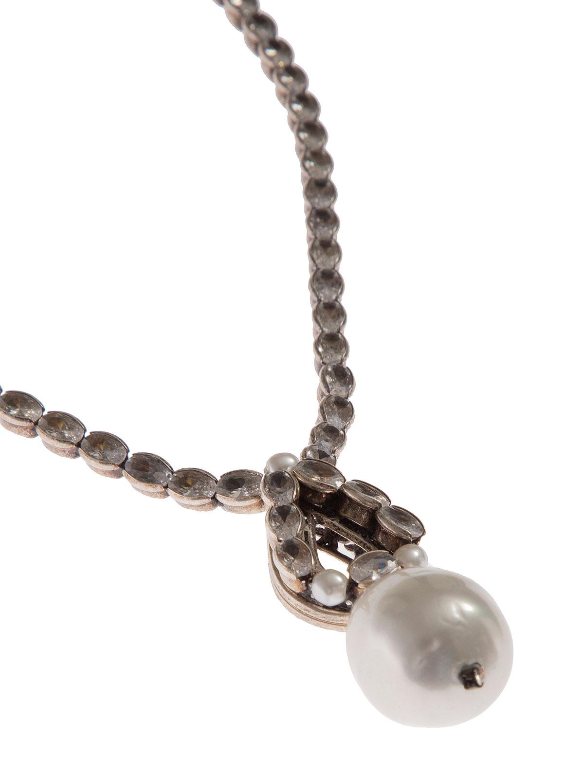 Collana di pietre cristallo con goccia pendente