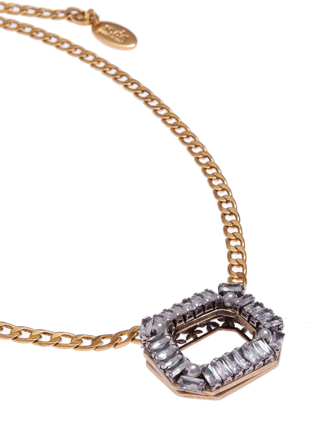 Collana con centrale ottagonale di baguettes cristallo