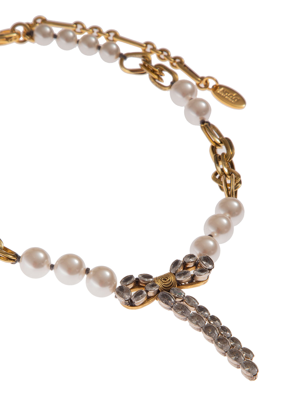 Collana di perle alternate a catene