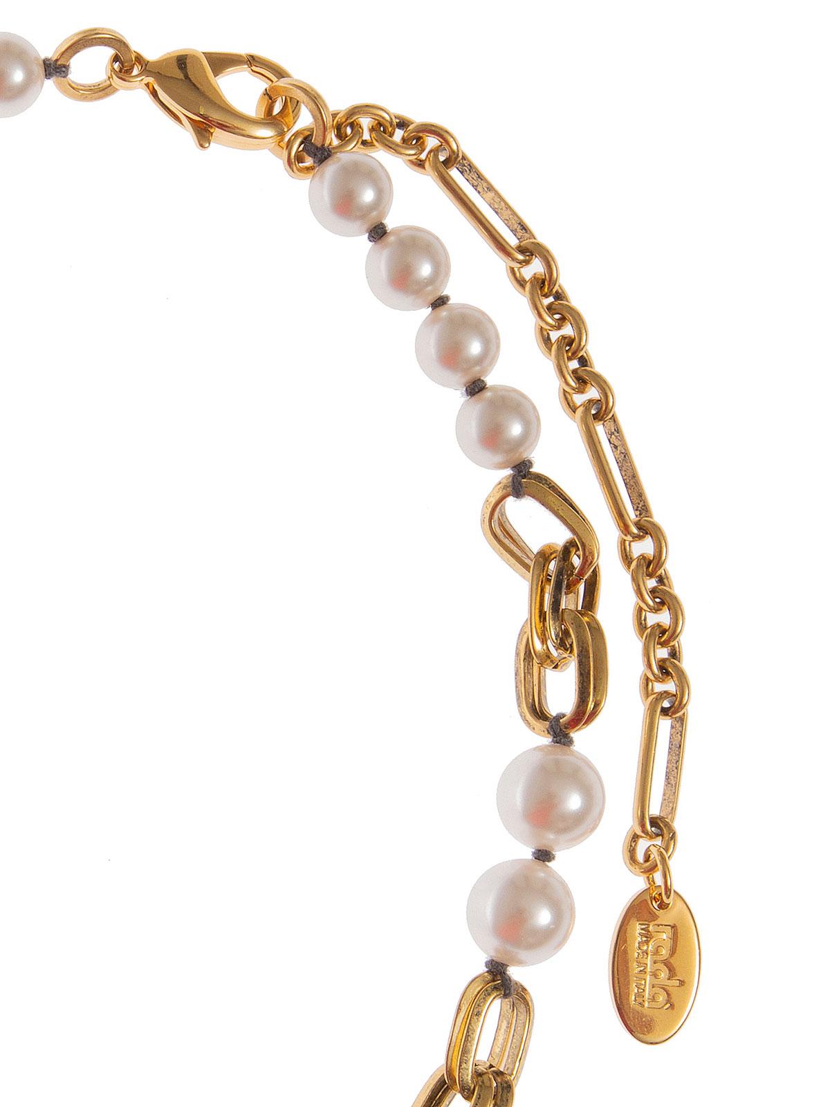 Collana di perle alternate a catene