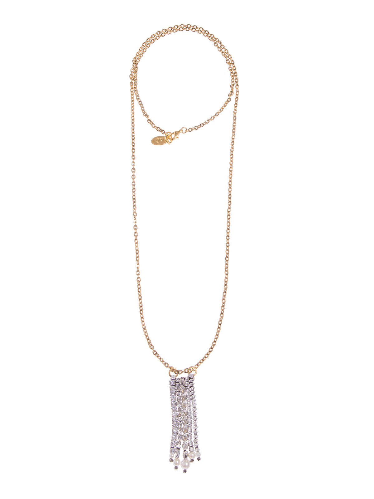 Chain necklace with crystal cascade