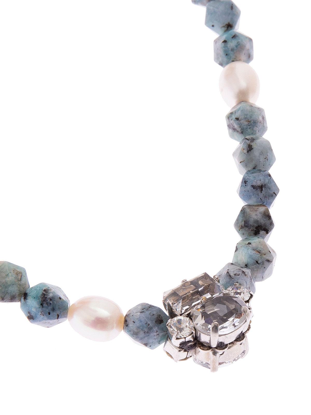 Collana con perle di Labradorite e centrale gioiello