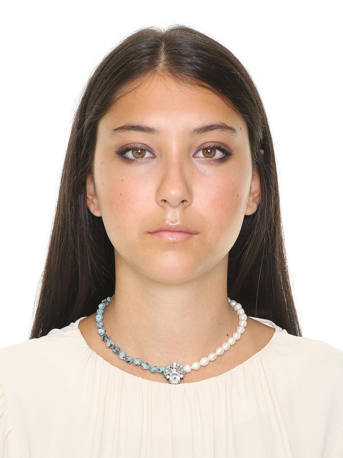 Collana con perle Labradorite e perle di fiume
