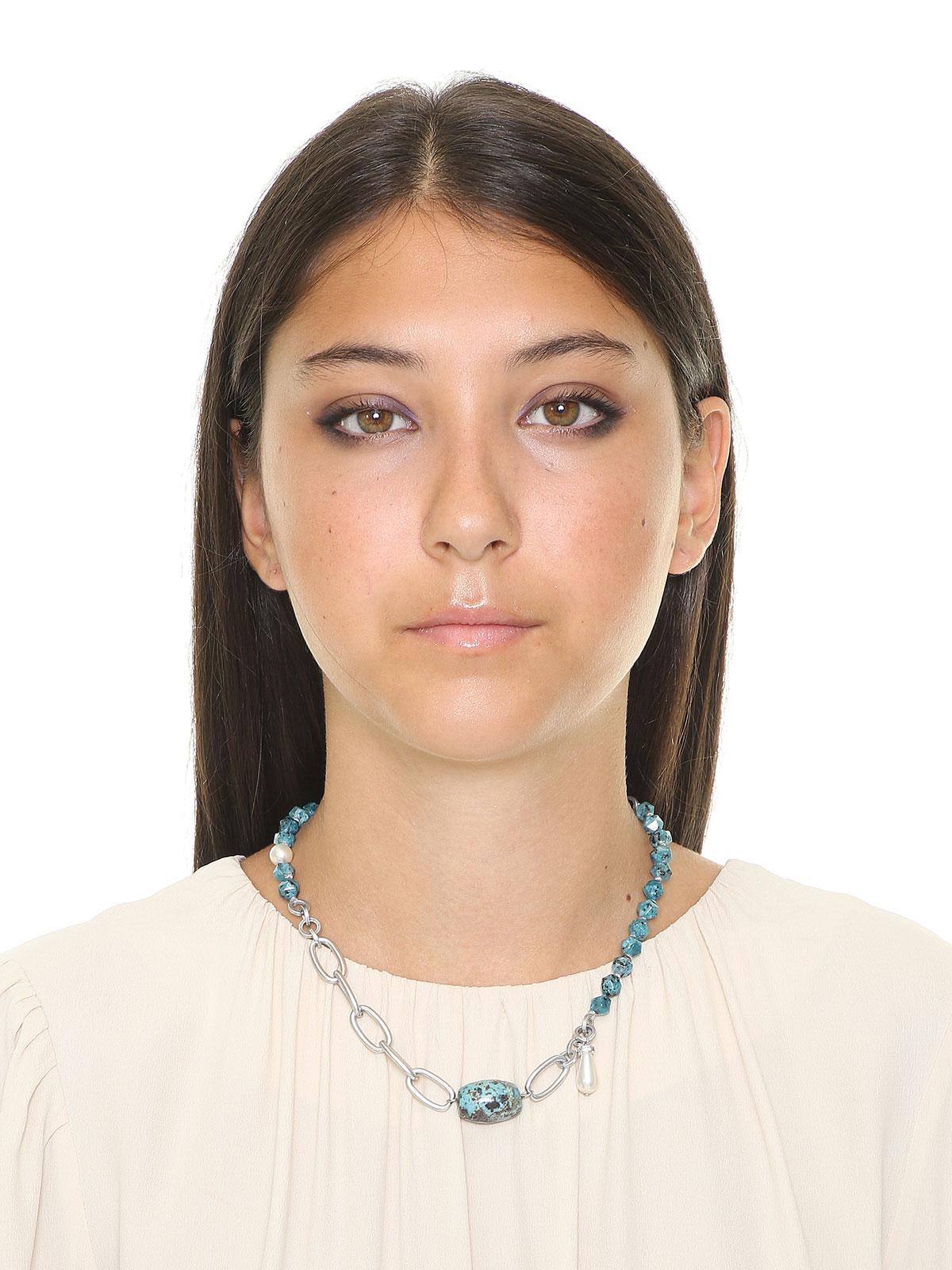 Collana con perle di Labradorite