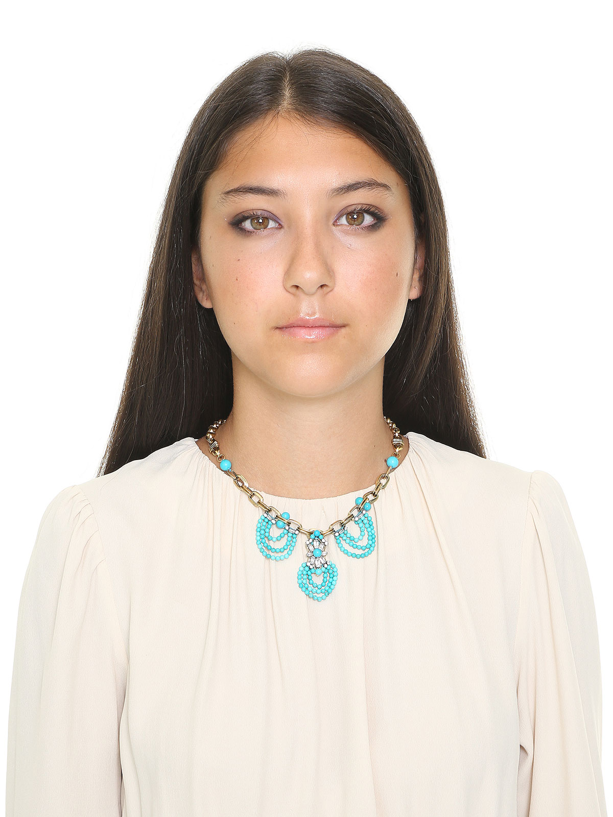 Beaded drape necklace