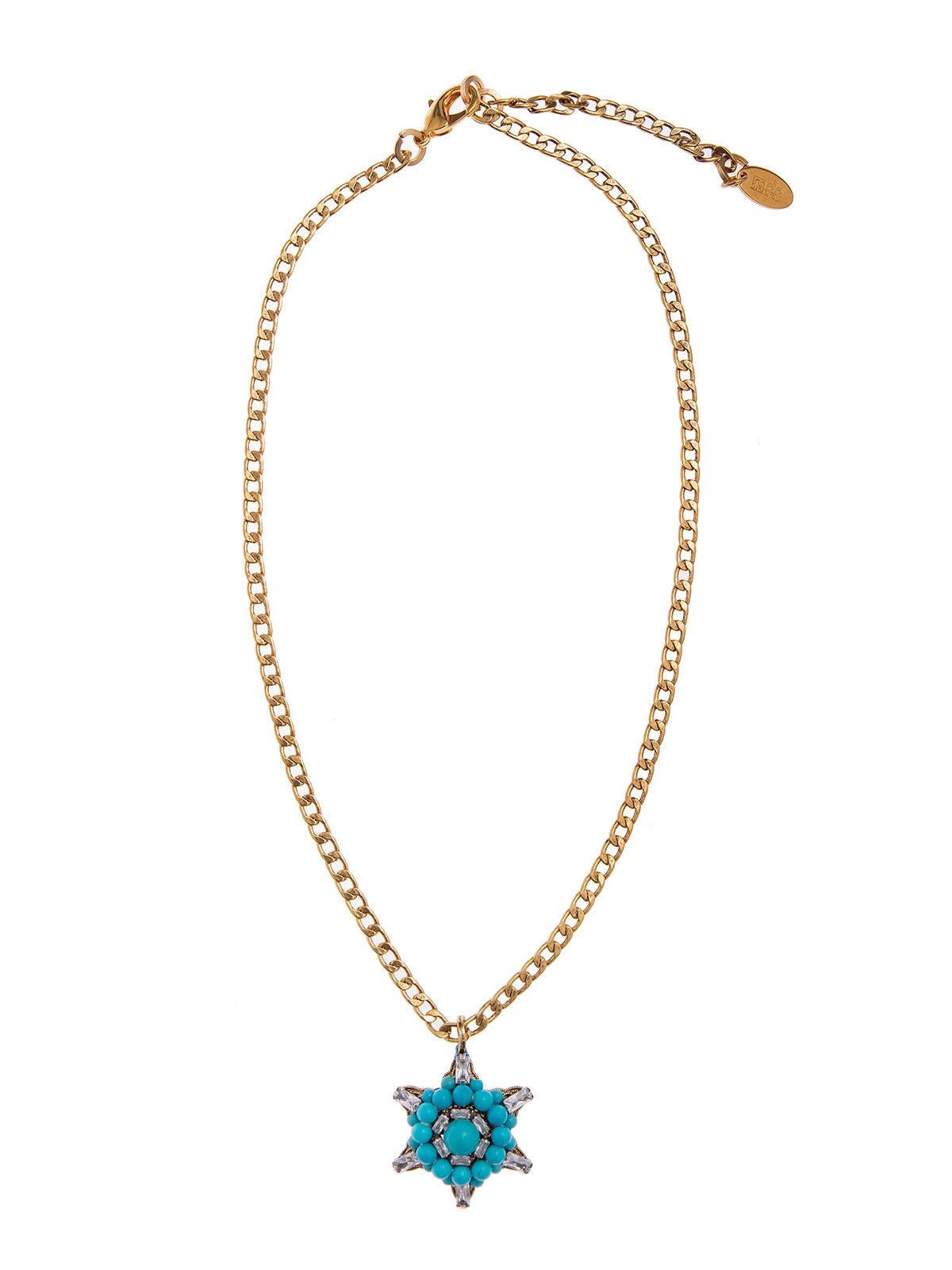 Chain necklace with beaded charm