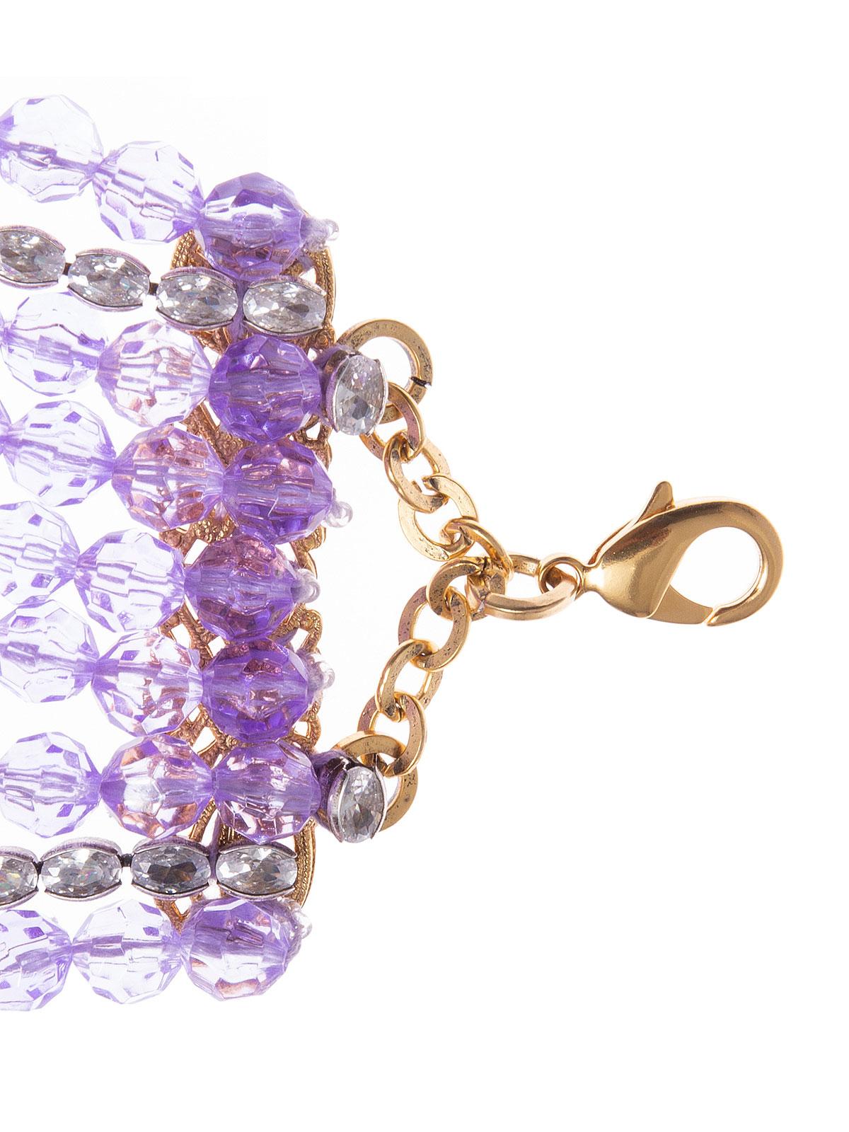 Collana con fili di perle in plexiglass