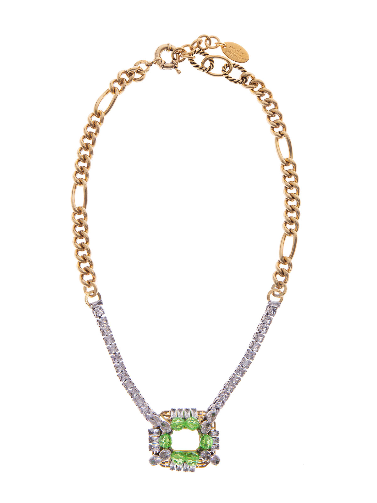 Collana gioiello con perle plexiglass