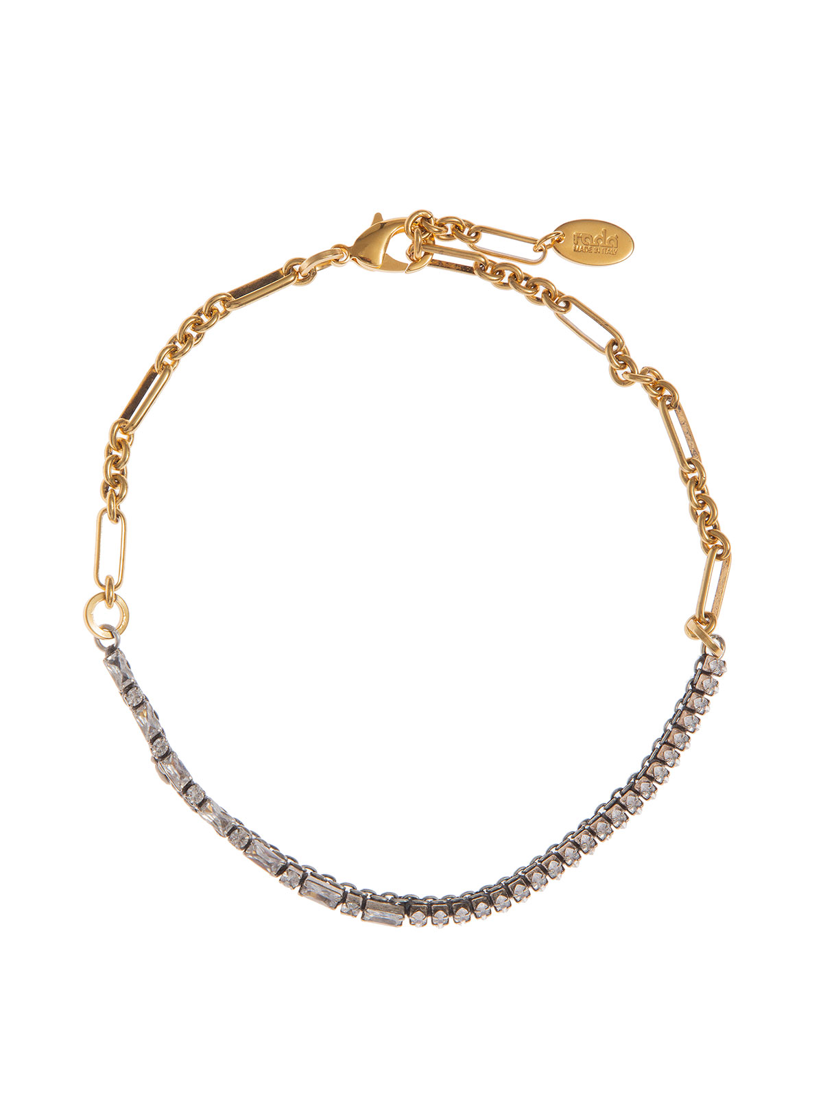 Chain choker with crystal stones