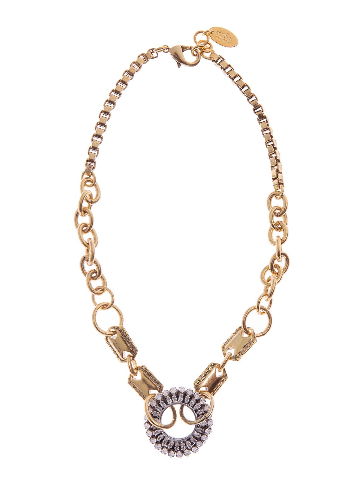 Collana di catena con centrale gioiello