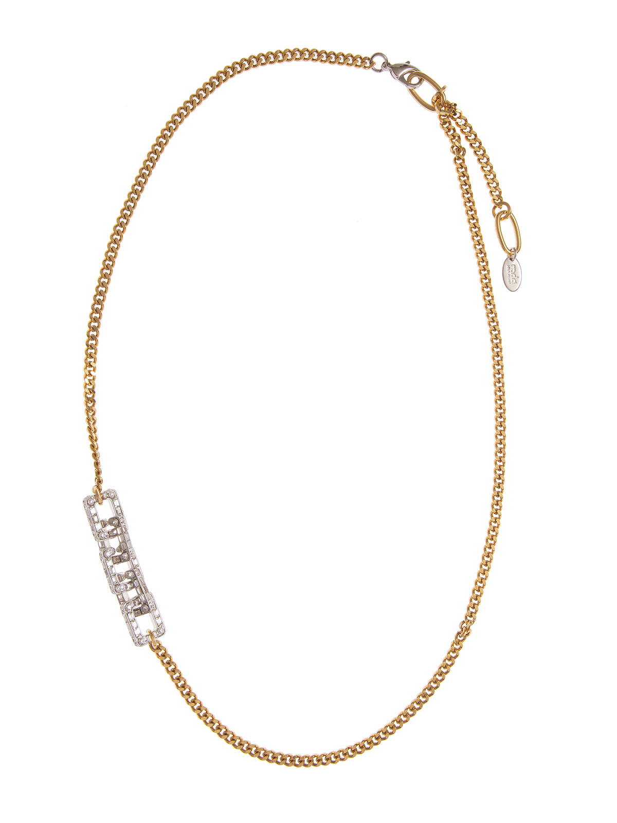 Chain necklace with crystals