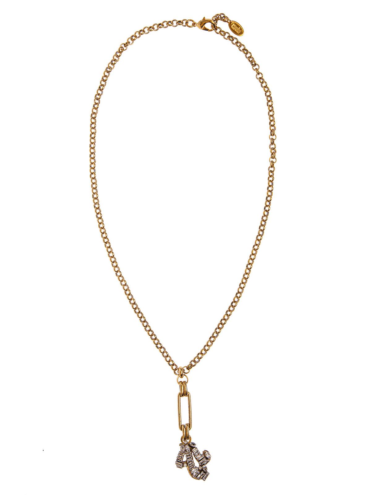 Collana di catena con pendente riccioli gioiello