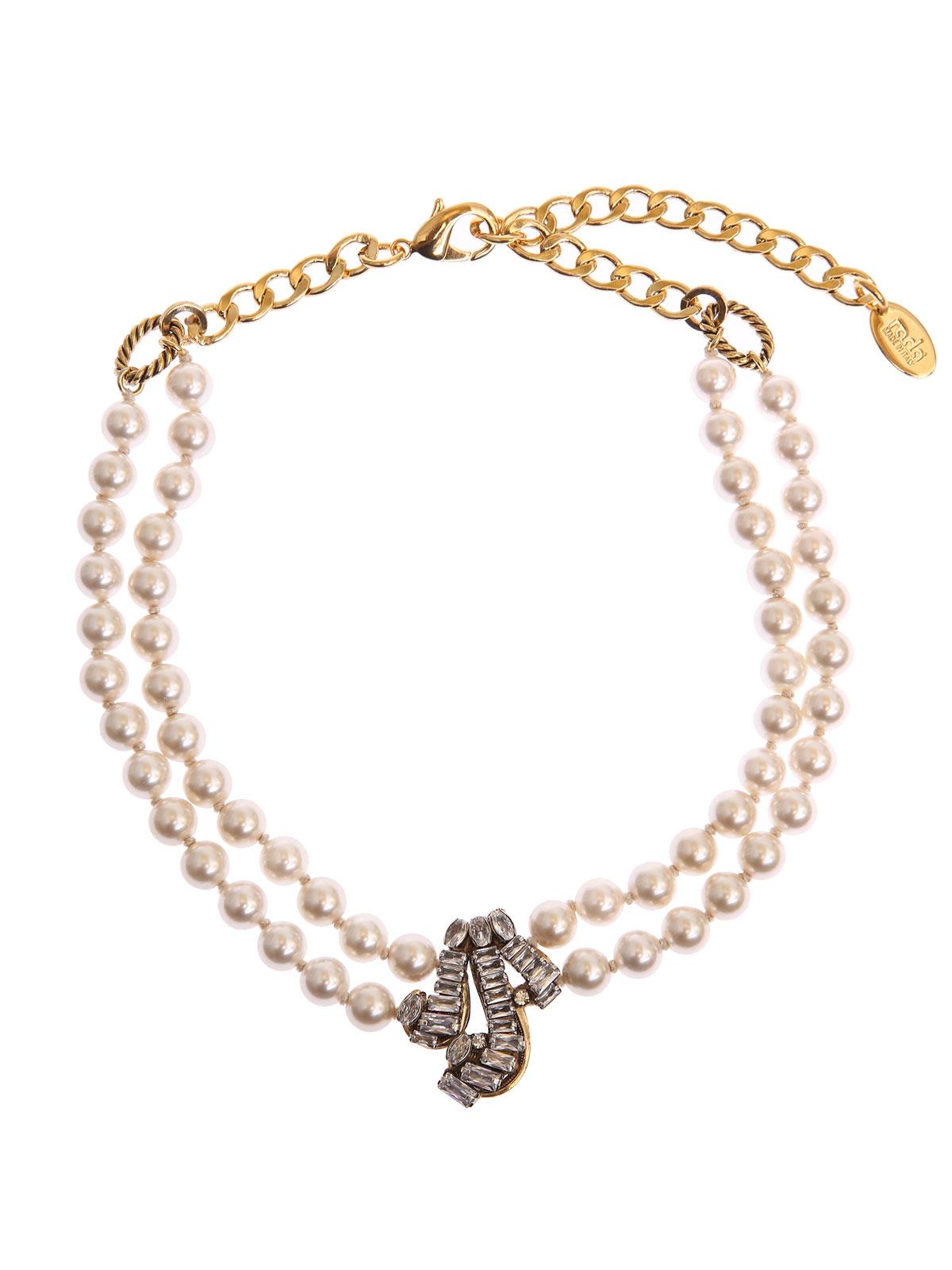 Collana di perle e riccioli cristallo