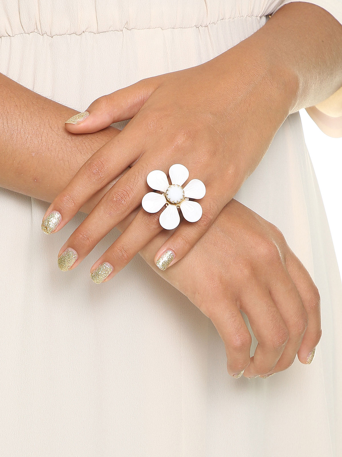 Painted flower ring