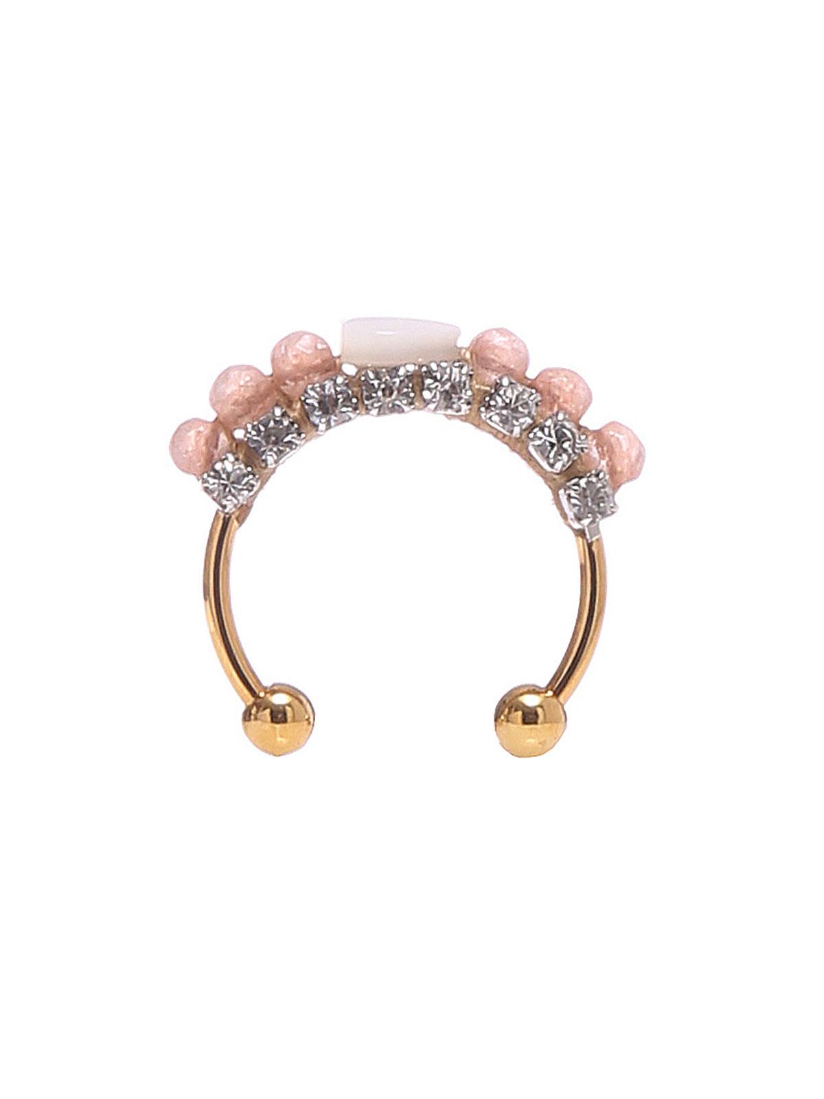 Anello con perle giada