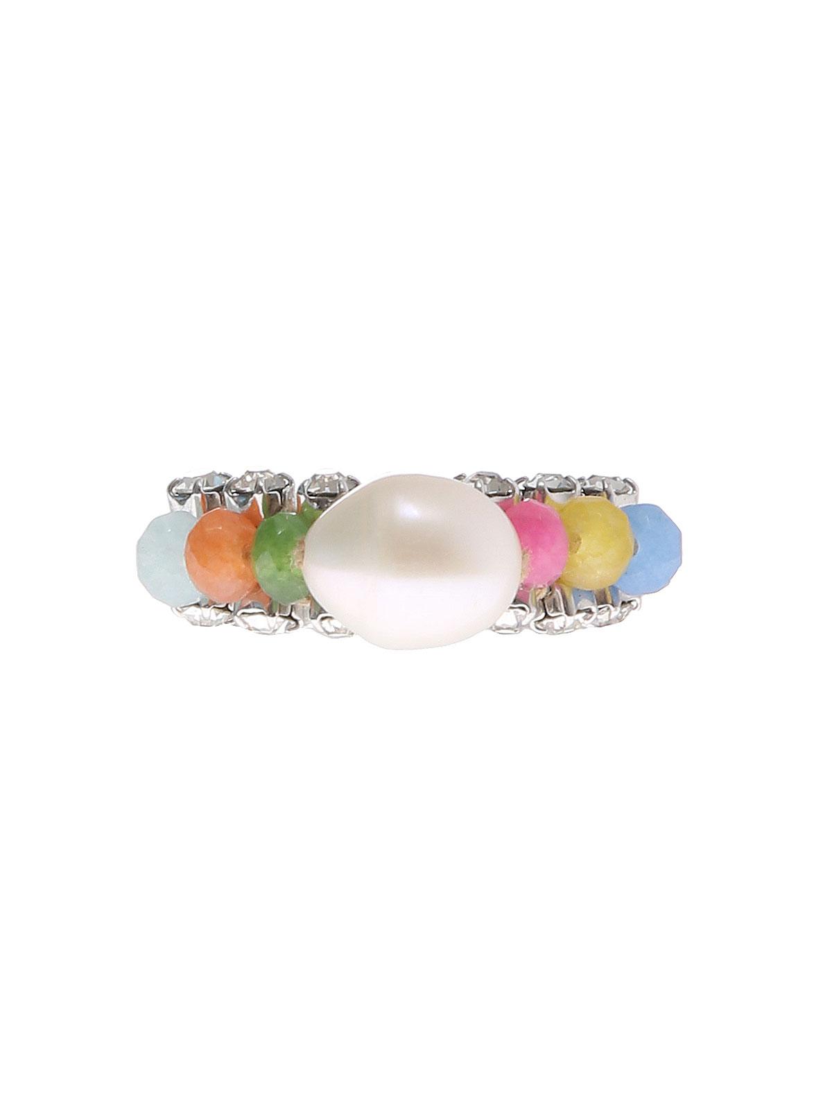Multicolor jade ring