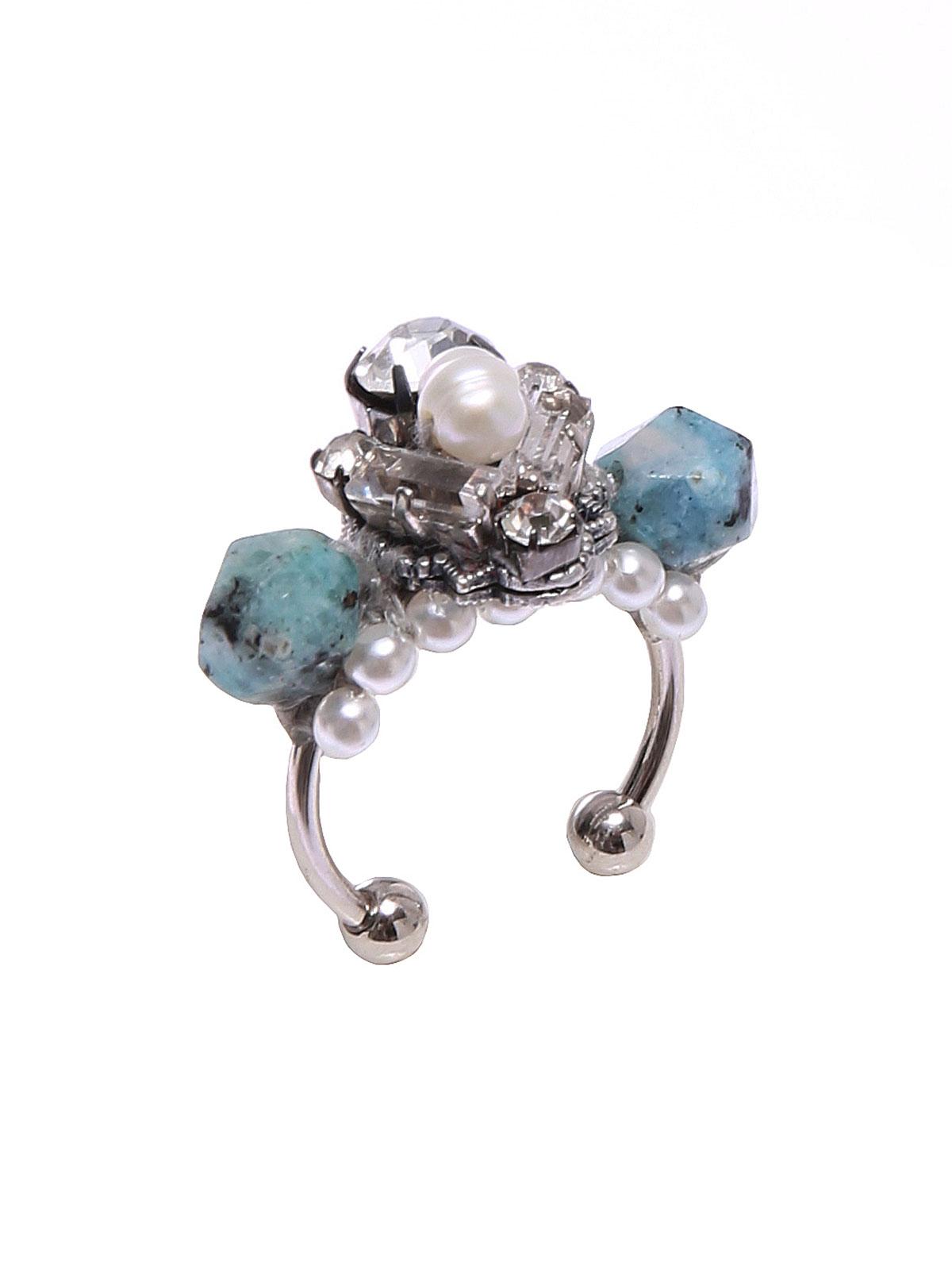 Anello con perle di Labradorite