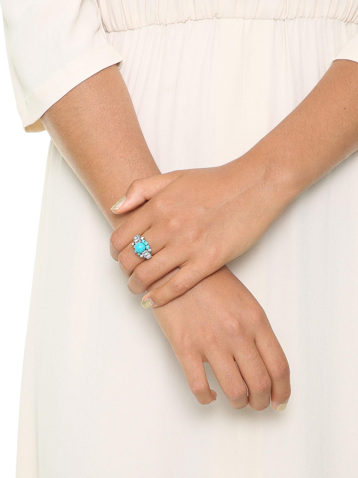 Glass beaded ring