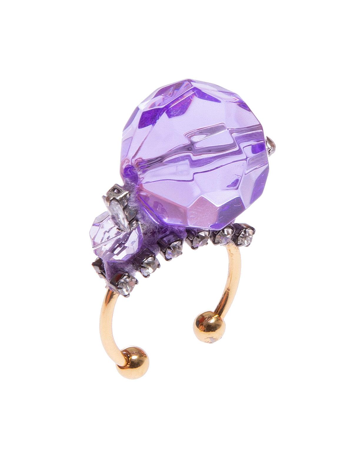 Anello con maxi perla plexiglass